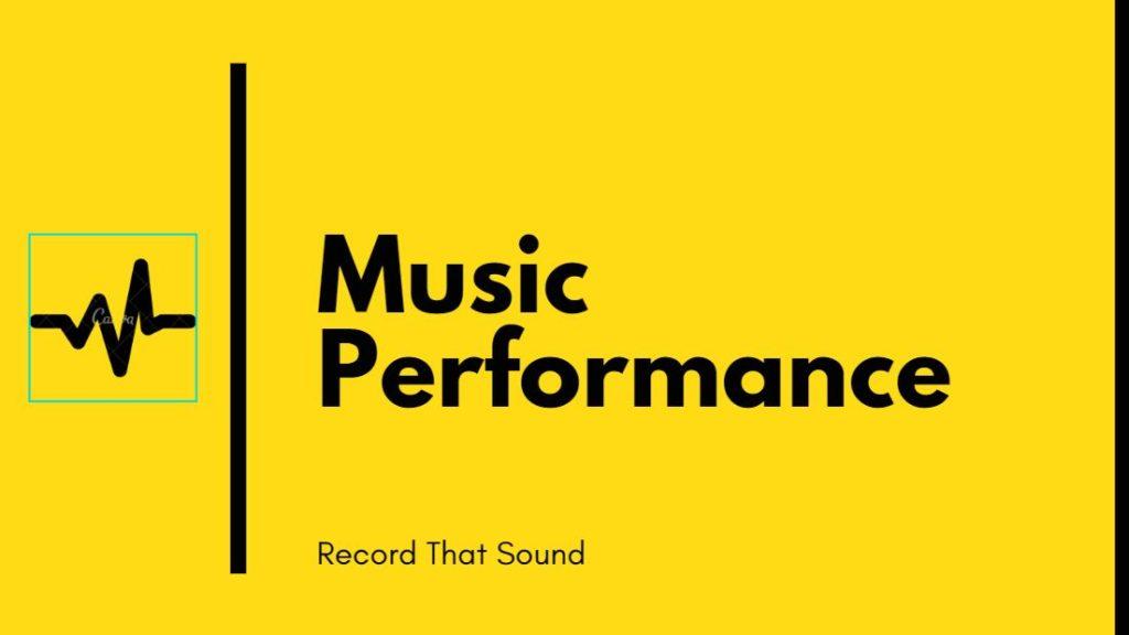 Music Performance Banner