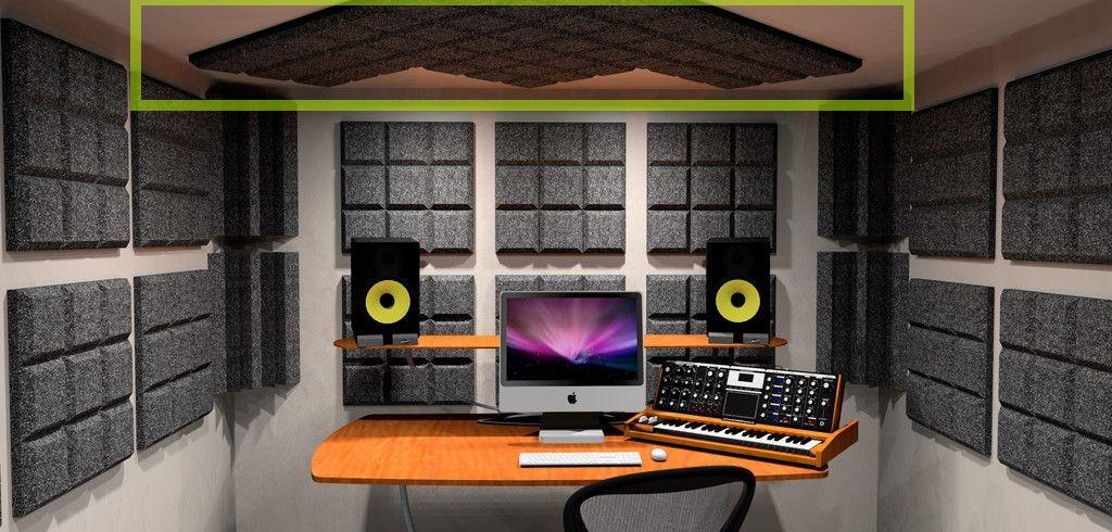 acoustic foam studio room - ceiling