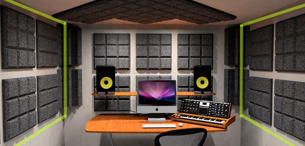 acoustic foam studio room - side walls