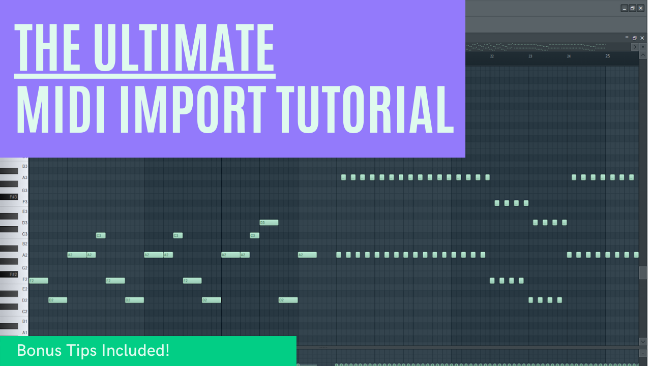 Import MIDI To FL STUDIO